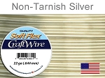Soft Flex Craft Wire, 22 Gauge (.65 mm), Silver Plated, Non-tarnish Silver, 10 yd (9.14 m), 1 spool