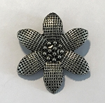 33mm Pewter Flower Pendant