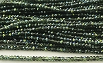 Chinese Crystal Rondelle Beads - Erinite w/ Green Iris, 1.5x2mm - 1 strand