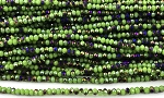 Chinese Crystal Rondelle Beads - Chartreuse w/ Purple Iris, 2x3mm - 1 strand