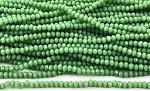 Chinese Crystal Rondelle Beads - Opaque Chrysoprase, 2x3mm - 1 strand