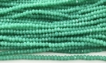 Chinese Crystal Rondelle Beads - Gem Silica, 1.5x2mm - 1 strand