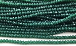 Chinese Crystal Rondelle Beads - Emerald, 1.5x2mm - 1 strand