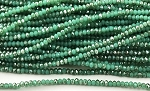 Chinese Crystal Rondelle Beads - Gem Silica w/ Silver Luster, 1.5x2mm - 1 strand