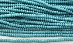 Chinese Crystal Rondelle Beads - Sky Blue, 2x3mm - 1 strand