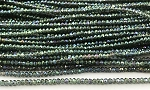 Chinese Crystal Rondelle Beads - Chrysolite w/ Green Iris, 1.5x2mm - 1 strand