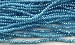 Chinese Crystal Rondelle Beads - Aqua AB, 1.5x2mm - 1 strand