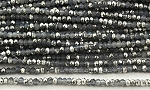 Chinese Crystal Rondelle Beads - Grey Opal w/ Silver, 2x3mm - 1 strand