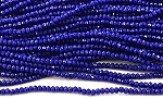 Chinese Crystal Rondelle Beads - Opaque Cobalt, 1.5x2mm - 1 strand