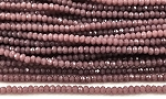 Chinese Crystal Rondelle Beads - Plum, 2x3mm - 1 strand