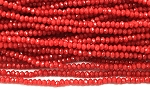 Chinese Crystal Rondelle Beads - Opaque Red, 1.5x2mm - 1 strand