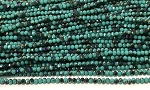 Chinese Crystal Rondelle Beads - Turquoise w/ Purple Iris, 2x3mm - 1 strand