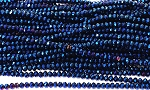 Chinese Crystal Rondelle Beads - Blue Iris, 2x3mm - 1 strand