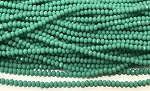 Chinese Crystal Rondelle Beads - Opaque Gem Silica, 2x3mm - 1 strand