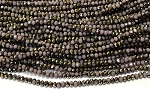 Chinese Crystal Rondelle Beads - Opaque Lavender w/ Gold, 2x3mm - 1 strand