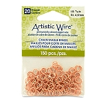 20 Gauge Artistic Wire, Chain Maille Rings, Round, Natural, 11/64 in (4.37 mm), 150 pc