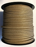2mm Vegan Suede Cord – Mocha Brown w/ Gold Dust –  apr. 1 yd.