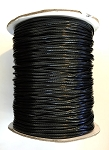 Waxed Polyester Cord, 1.25 mm - Black - 1 yard