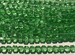 6mm Czech Glass Cathedral-cut – Chrysolite – aprx. 25 pcs per strand