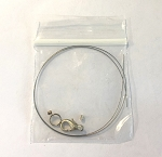 Bracelet Findings Kit - Beading Cable, Lobster Claw Clasp, Spring Ring & Crimps