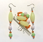 Czech Glass Earring Kit - Beads & Findings - Dreamsicle