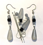 Czech Glass Earring Kit - Beads & Findings - Classic Chic
