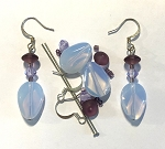 Czech Glass Earring Kit - Beads & Findings - Amethyst & Opal
