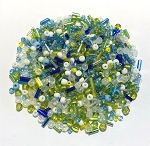 1oz Czech Glass &  Japanese Seed Beads Mix - Oceanside