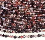 Swarovski Bicone & Glass Pearl Mixed Strand - 4 & 6mm - Summer Berries Mix