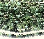 Swarovski Bicone & Glass Pearl Mixed Strand - 4 & 6mm - Spring Greens Mix