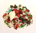 50g Czech Mix w/ Japanese Seed Beads - Holiday Mix