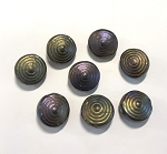 12 x 20mm Ceramic Bullseye – Bronze Iris – 1 pc.