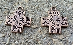 20 x 24 mm Antique Copper Southwest Cross - 2 qty.