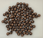 4mm Brass Rounds – Antique Copper-plated – 100 pcs.