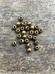 6mm Large Hole Round Pewter - Antique Brass - 25 qty.