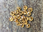 9 x 6mm Chinese Crystal Rondelles - Champagne - 10 qty.