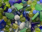 4oz Czech Mix Beads - Blue/Green