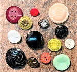 Vintage Buttons – Size and Color Varies – 3 pcs.