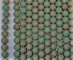 8mm Czech Glass Druk – Opaque Turquoise Copper Wash – 15 pcs.