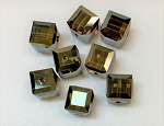8mm Swarovski Article 5601 Cube – Crystal Bronze Shadow – 1 pc.