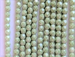 4mm Czech Fire Polish - Alabaster Sage Luster - 50 Qty. BB