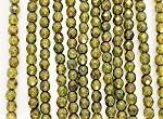 4mm Czech Fire Polish - Crystal Fern Green Luster - 50 Qty. BB