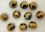 Swarovski 5000 8mm Faceted Bead – Crystal Dorado 2X – 2 pcs.