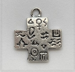 20 x 24mm Pewter Southwest Cross – Antique Silver – 1 pc.