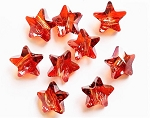 14mm Swarovski Large-Hole Star Bead Article 5914 – Red Magma – 1 pc.