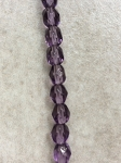 4 x 6mm Chinese Crystal Rondelle - Amethyst AB - 48 qty.