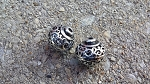 15 x 15mm Indian Silver Beads - 2 qty.