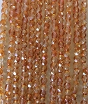 3mm Czech Fire Polish - Crystal Copper - 50 qty. - BB
