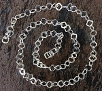 4mm Silver-Plated Brass Square Chain – 1 foot