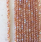 4mm Czech Fire Polish - Matte Crystal Copper AB - 50 qty. - BB
